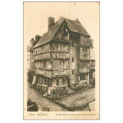 carte postale ancienne 14 BAYEUX. Maison Rue Saint-Martin 1946