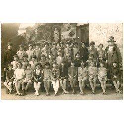 69 LYON. Rare Carte Photo 1929 Ecole La Salle photo de Classe. Photographe Demierre 14 rue Imbert Colomès à Lyon