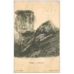 carte postale ancienne 02 CROUY. La Pierre-Fite 1908