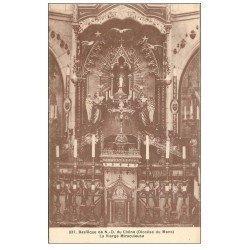 carte postale ancienne 72 BASILIQUE DE NOTRE-DAME DU CHÊNE. La Vierge Miraculeuse