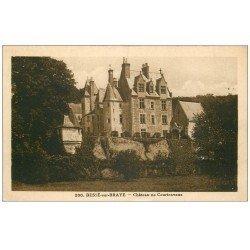 carte postale ancienne 72 BESSE-SUR-BRAYE. Château de Courtenvaux 1947