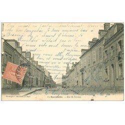 carte postale ancienne 72 BONNETABLE. Rue Saint-Nicolas 1905