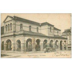 carte postale ancienne 72 CHATEAU-DU-LOIR. Les Halles et Machine Citerne 1904