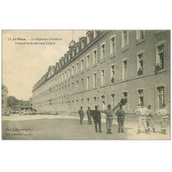 carte postale ancienne 72 LE MANS. 31° Régiment Artillerie. Messages Signaux par drapeaux 1914