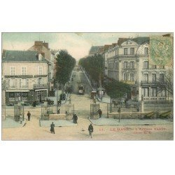 carte postale ancienne 72 LE MANS. Avenue Thiers Hôtel de l'Embarcadère