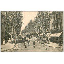 carte postale ancienne 72 LE MANS. Avenue Thiers Hôtel de Paris et Tramway Crémieux