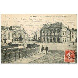 carte postale ancienne 72 LE MANS. Caisse d'Epargne Boulevard Levasseur 1908