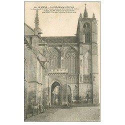 carte postale ancienne 72 LE MANS. Cathédrale la Tour 1931