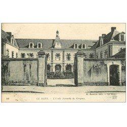 carte postale ancienne 72 LE MANS. Ecole Normale de Garçons