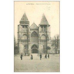 carte postale ancienne 72 LE MANS. Eglise Notre-Dame de la Couture 1909