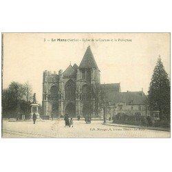 carte postale ancienne 72 LE MANS. Eglise Notre-Dame de la Couture et Préfecture