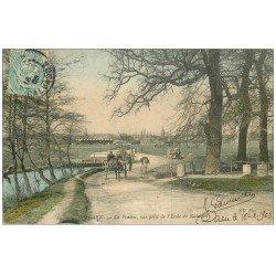 carte postale ancienne 14 CAEN. La Prairie Ecole de Natation 1906