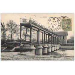 carte postale ancienne 14 CAEN. Le Nouveau Barrage sur l'Orne 1921