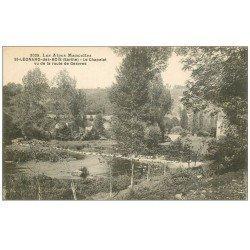carte postale ancienne 72 SAINT-LEONARD-DES-BOIS. Chapelet Route de Gesvres