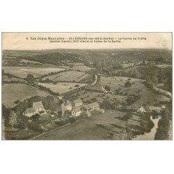 carte postale ancienne 72 SAINT-LEONARD-DES-BOIS. Ferme de l'Inthe 1934. Ridules...