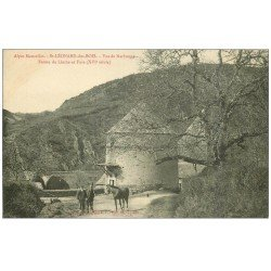 carte postale ancienne 72 SAINT-LEONARD-DES-BOIS. Ferme de Linthe et Fuie. Eleveur et Chevaux de Course