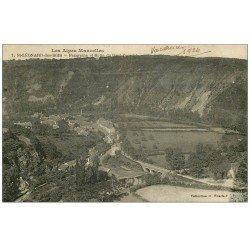 carte postale ancienne 72 SAINT-LEONARD-DES-BOIS. Panorama Butte Haut-Fourché 1924