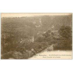 carte postale ancienne 72 SAINT-LEONARD-DES-BOIS. Promeneur avec Chien au Haut Fourché