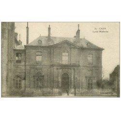 carte postale ancienne 14 CAEN. Lycée Malherbe 1922