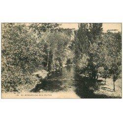 carte postale ancienne 72 SAINT-LEONARD-DES-BOIS. Rivière 128
