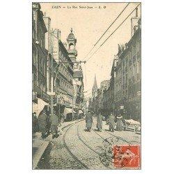 carte postale ancienne 14 CAEN. Magasin à la Relisieuse Rue Saint-Jean 1908