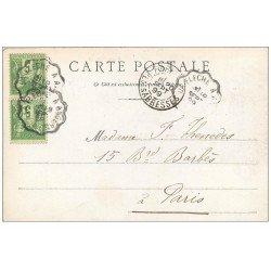 carte postale ancienne 72 SOLESMES. 1899 Abbaye Bénédictins 1899