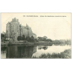 carte postale ancienne 72 SOLESMES. Abbaye 1792