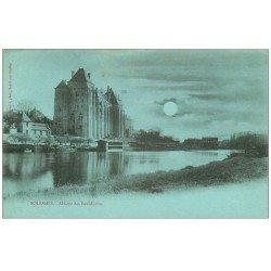 carte postale ancienne 72 SOLESMES. Abbaye 1903 carte bleutée