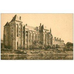 carte postale ancienne 72 SOLESMES. Abbaye Saint-Pierre sépia