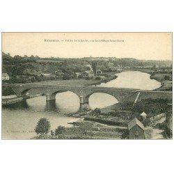 carte postale ancienne 72 SOLESMES. Abbaye Saint-Pierre Vallée Sarthe