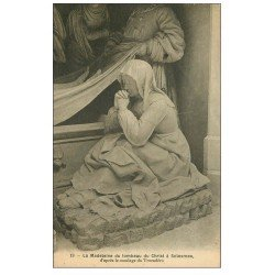 carte postale ancienne 72 SOLESMES. Madeleine Tombeau du Christ 1944