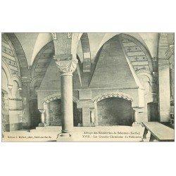 carte postale ancienne 72 SOLESMES. Réfectoire Cheminées