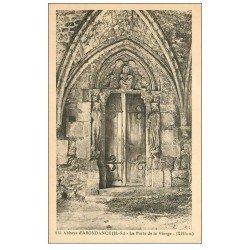 carte postale ancienne 74 ABONDANCE. Abbaye Porte de la Vierge