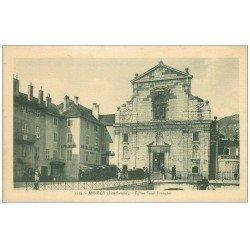 carte postale ancienne 74 ANNECY. Eglise Saint-François et Hôtel de Savoie