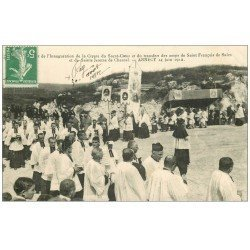 carte postale ancienne 74 ANNECY. Inauguration Crypte du Sacré-Coeur 1912