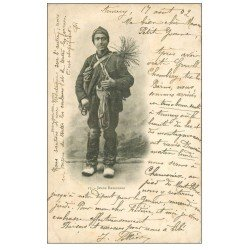 carte postale ancienne 74 ANNECY. Jeune Ramoneur 1902. Plissures
