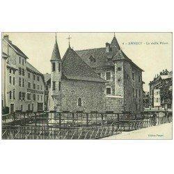 carte postale ancienne 74 ANNECY. La Vieille Prison