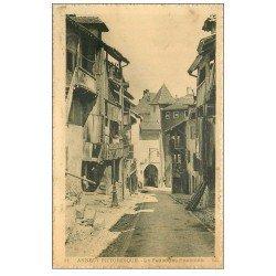 carte postale ancienne 74 ANNECY. Le Faubourg Perrière