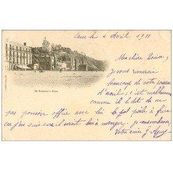 carte postale ancienne 14 CAEN. Rare Carte Pionnière 1900. De Beuzeval à Dives 1900