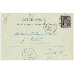 carte postale ancienne 14 CAEN. Rare Carte Pionnière 1900. Eglise Saint-Gilles 1900