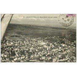 carte postale ancienne 74 ANNEMASSE. Et le Mont Blanc vus d'avion 1936