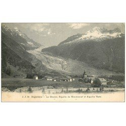 carte postale ancienne 74 ARGENTIERE. Glacier, Aiguille Chardonnet et Verte
