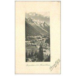carte postale ancienne 74 ARGENTIERE. Mont Blanc 1911