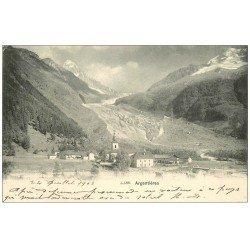 carte postale ancienne 74 ARGENTIERE. Village 1903