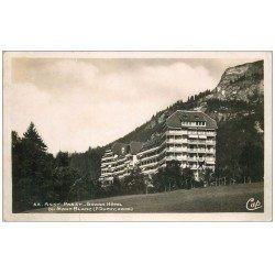 carte postale ancienne 74 ASSY-PASSY. Grand Hôtel du Mont Blanc. Carte Photo
