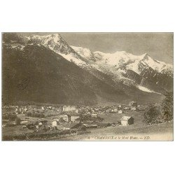 carte postale ancienne 74 CHAMONIX. 1922 Le Mont Blanc. Timbre manquant