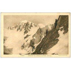 carte postale ancienne 74 CHAMONIX. Aiguille du Moine 1947. Alpinisme et Ascension
