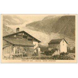 carte postale ancienne 74 CHAMONIX. Argentière. Glacier et Ferme Châlet