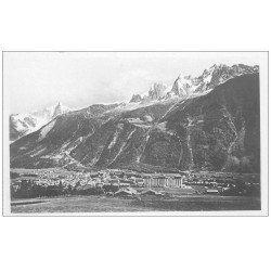 carte postale ancienne 74 CHAMONIX. Chaîne Aiguilles Dru