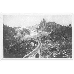 carte postale ancienne 74 CHAMONIX. Chemin de Fer Montenvers Hôtel Aiguille Dru